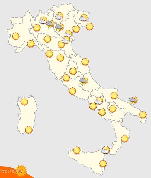 Italien Wetter in 4 Tagen